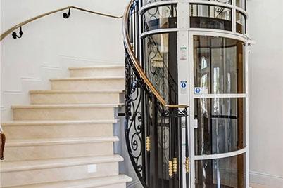 Hydraulic villa ladder